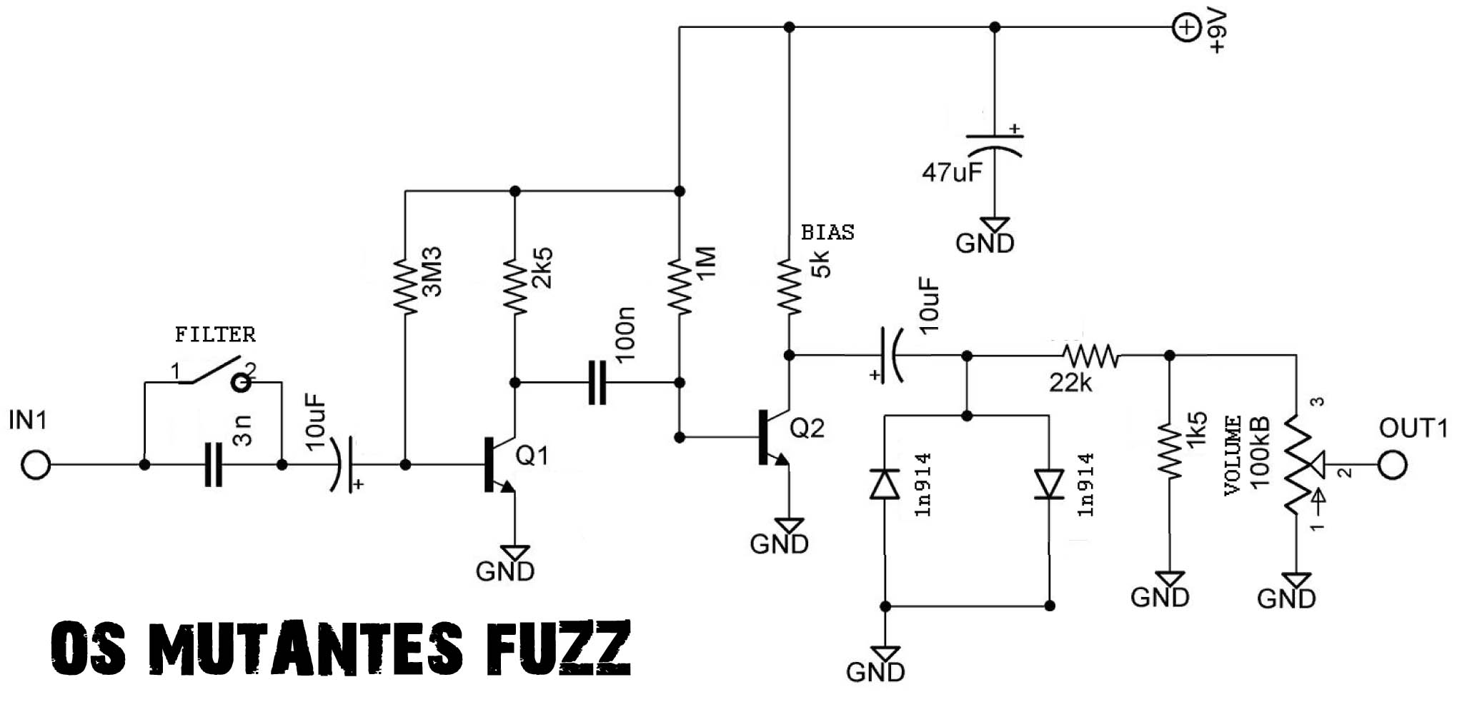 Schematic Turretboardorg Distortion Pedal Schematics Get The Os Mutantes Fuzz Here